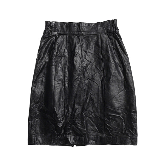Cow leather skirt