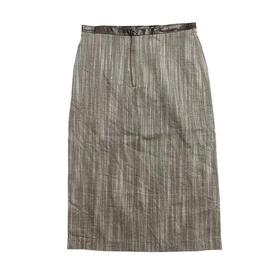 Chaiken silk leather skirt