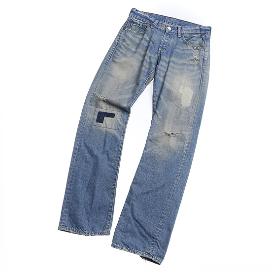 LEVI'S damage detail pants