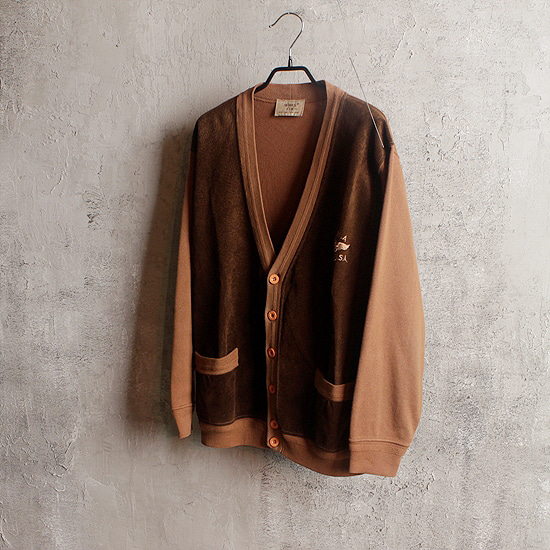 Avirex leather cardigan