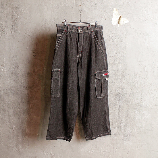 PJ'S SURF denim wide pants