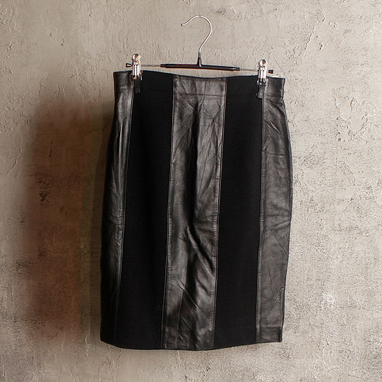 MONDRIAN. leather mix skirt (kltz)