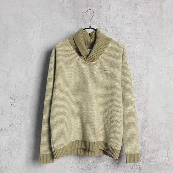 LACOSTE shawl collar knit